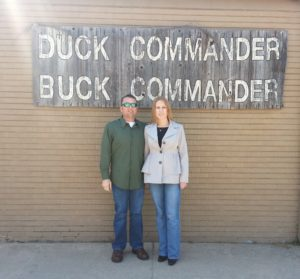 Brian and Michelle at Duck Commander in West Monroe in 2013