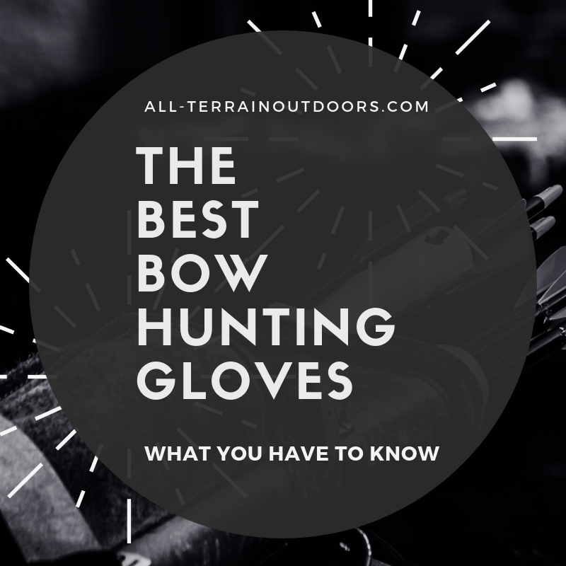 bow hunting gloves with release hole